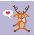 Deer Crying for Broken Heart Reindeer Disappointed vector image