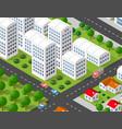 isometric 3d city urban vector image