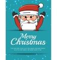merry christmas card santa claus happy vector image