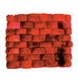 red brick vector image