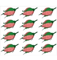 Rosebuds Seamless background pattern Hand drawn vector image vector image