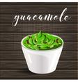 abstract logo ceramic dip bowl filled vector image