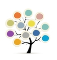 Abstract tree with circle frames for your design vector image vector image