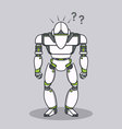 Stupid Question Robot vector image