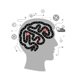 Thought processes of a human brain vector image