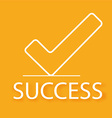 Success design vector image vector image