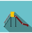 Playground slide flat icon vector image