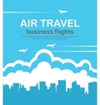 air travel with the aircraft vector image