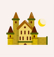 ancient brick castle with cone roofs and yellow vector image