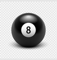 Billards Eight Ball vector image
