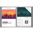Brochure flyer design template Leaflet cover vector image