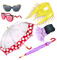 fashion weather accessories vector image
