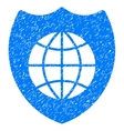 Global Shield Grainy Texture Icon vector image