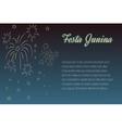 Hand drawing Festa Junina fireworks on night time vector image