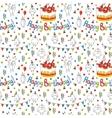 Happy birthday card Cartoon funny bird on a vector image
