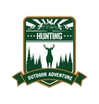 Hunting and adventure icon for sporting design vector image