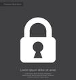 lock premium icon white on dark background vector image