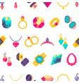 luxury jewelry flat style seamless texture vector image
