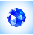 Realistic sapphire shaped Blue gem vector image