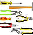 set of different tools vector image