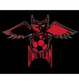 sport football emblem owl team vector image