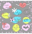 Set of labels Hand drawn lettering Doodle vector image