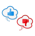 Thumbs up and down symbols vector image vector image