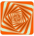 Abstract Spiral Background Orange vector image vector image