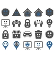 Tools options smiles objects icons vector image