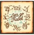 Travel blog adventure blogging online vector image vector image