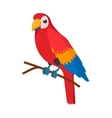 Red brazil parrot icon cartoon style vector image
