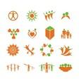 People health logo vector image