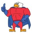 Eagle superhero thumb up gesture vector image