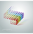 Abstract geometric cubic modern grunge rainbow vector image
