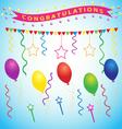 Congratulations party vector image