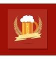 glass of beer emblem image vector image