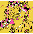 Hand drawn background with artistic patternBright vector image