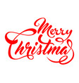 inscription marry christmas vector image