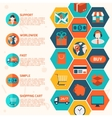 Modern flat shopping infographics vector image