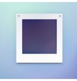 Photo frame or blank picture for background vector image