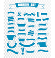 ribbon set linear style vector image