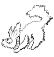 smal fluffy dog vector image