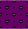 tile pattern with black cats and polka dots vector image