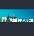 travel banner to france flat vector image