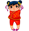 chinese girl vector image