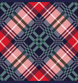 diagonal tartan seamless texture in various colors vector image