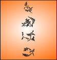 Flowers sillhouette vector image