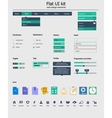 UI kit is a of beautiful components featuring the vector image vector image