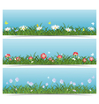 Meadow Banners vector image
