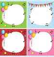 border template with four color background vector image